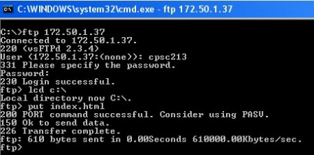 basic to ftp using