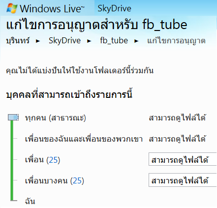 skydrive for share