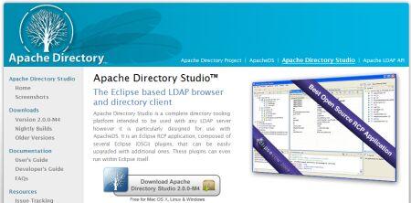 apache directory studio : ldap server & client
