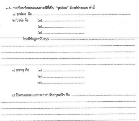ข้อเสนอแนะการเขียนรายงานการประเมินคุณภาพ