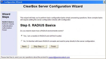 clearbox server configuration wizard