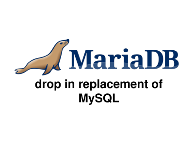 mysql was replaced with mariadb