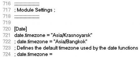 Php date.timezone