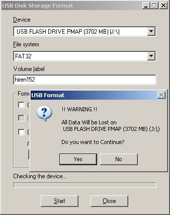 usb flash drive format