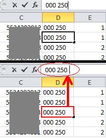 ปัญหาช่องไฟในข้อมูล แบบ text