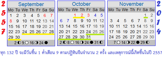 calendar 2557
