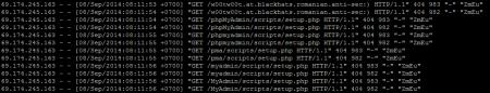 ใน access.log พบพฤติกรรมลองของมหาศาล