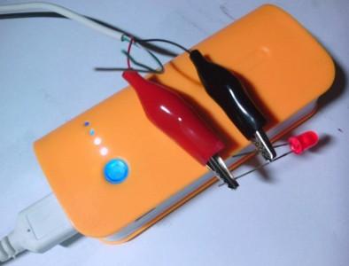 ทดสอบว่ามีไฟฟ้าไหลผ่านสาย USB
