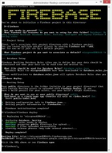 firebase in command prompt
