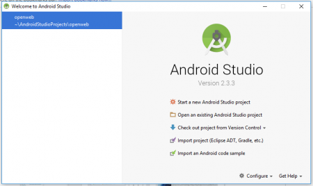 Android Studio Started