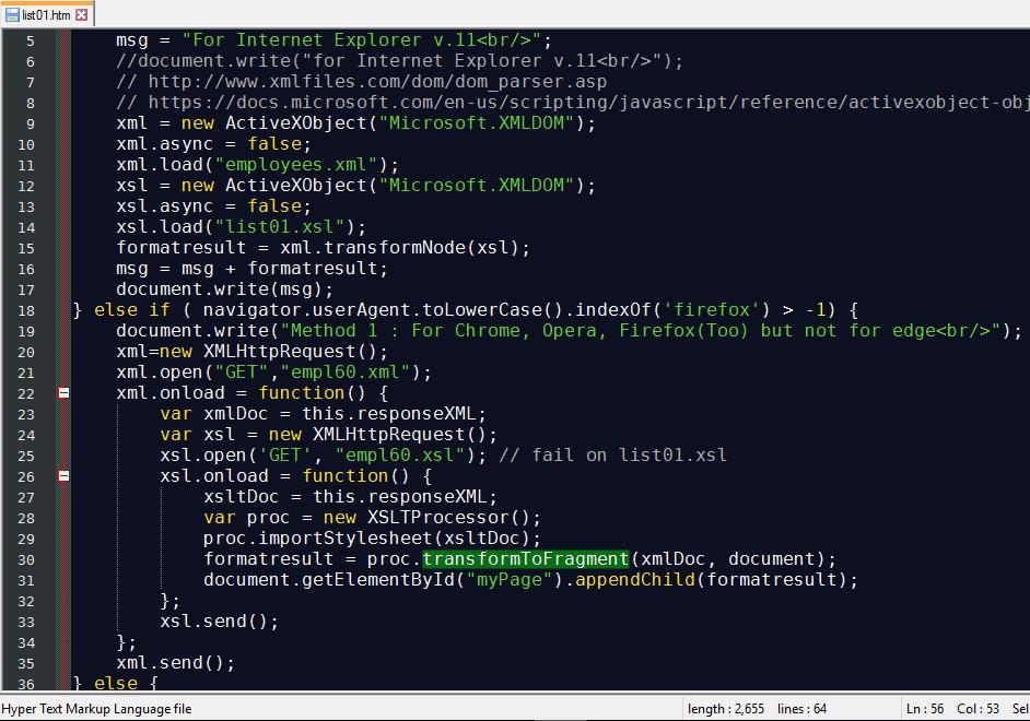 พบว่า MS Edge มี Bug เกี่ยวกับการ xml + xslt + javascript แล้ว return null