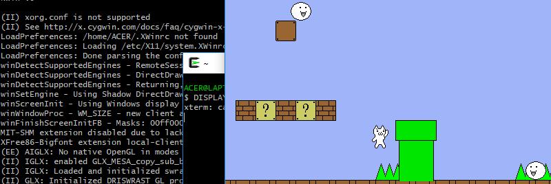 ติดเกมมาริโอ้แมว ตอนที่ 2 มาดูกันทำให้แมวดิ้นบน Cygwin ว่าง่ายเพียงใด