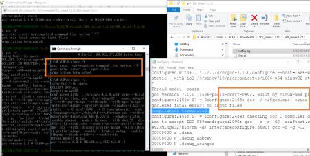 gcc ไม่มี -V แต่ configure ไม่ผ่าน พบใน config.log