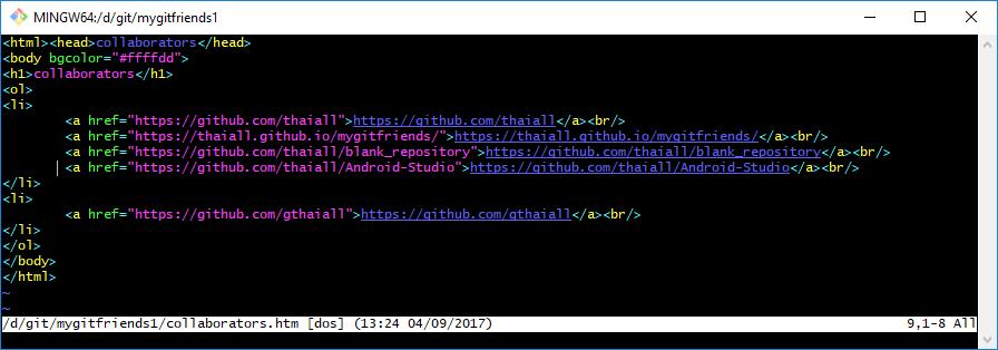 บทเรียนที่ 3 ชวนลูกทีมมือสมัครเล่นมารายงานตัวเป็น collaborators ผ่านแฟ้ม html ใช้ git สั่ง pull + push เข้า github.com