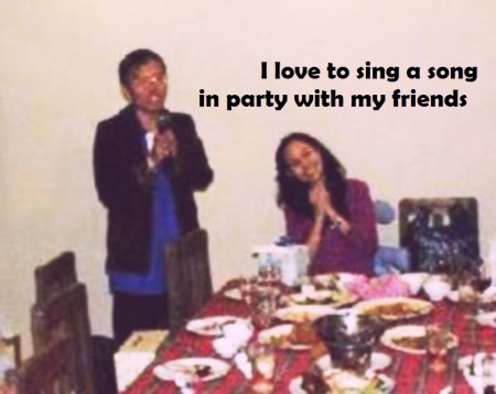 sing a song in party