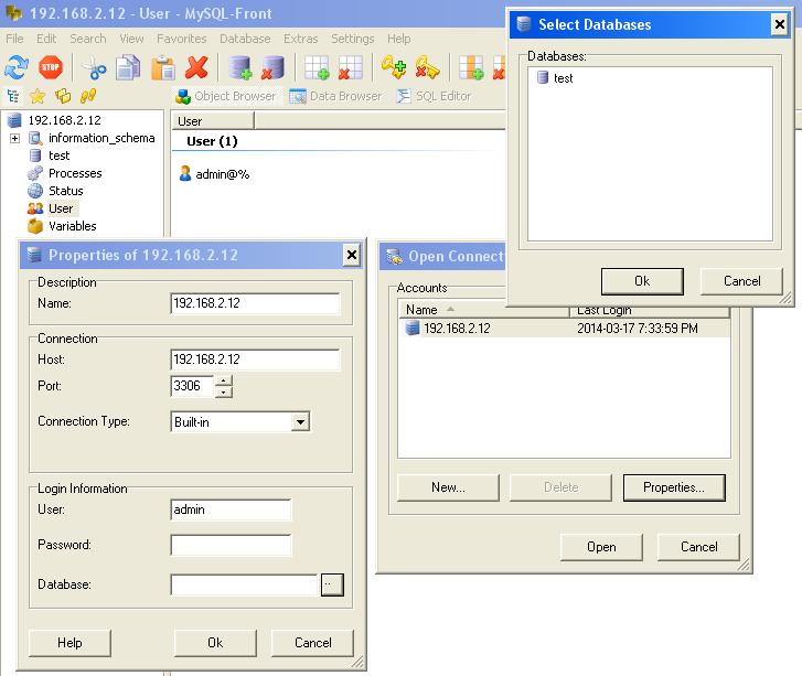 mysql front free  windows 7